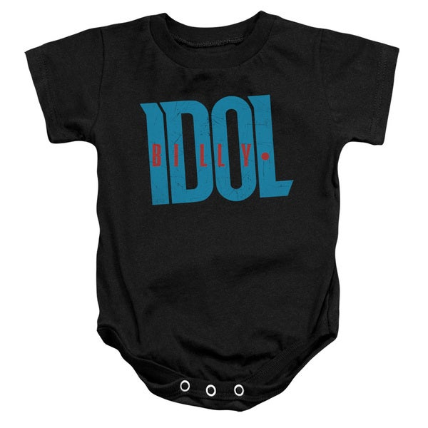 Billy Idol/Logo Infant Snapsuit in Black