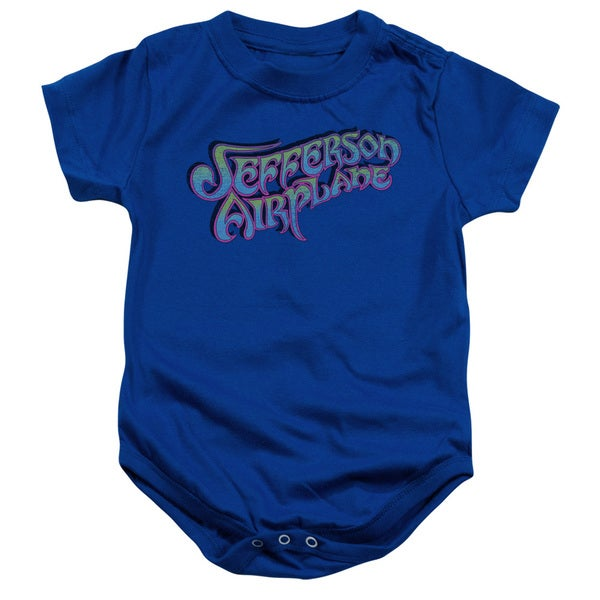 Jefferson Airplane/Gradient Logo Infant Snapsuit in Royal Blue
