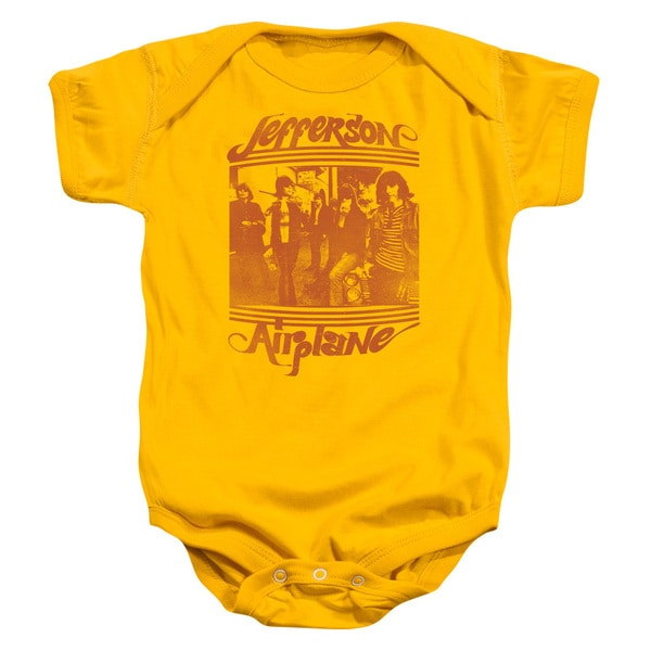 Jefferson Airplane/Group Photo Infant Snapsuit in Gold