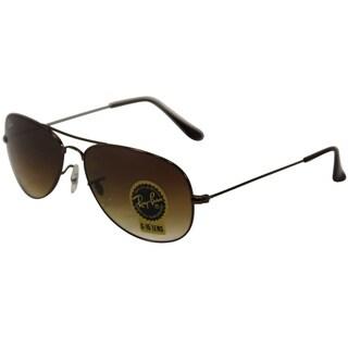 Ray-Ban Rb3362 Women's Brown Metal Gradient-lens Aviator Sunglasses