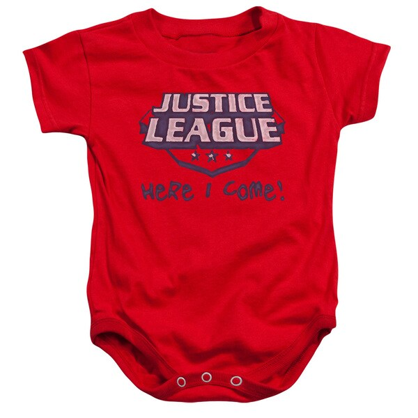 JLA/Here I Come Infant Snapsuit in Red