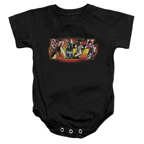 Kiss/Stage Logo Infant Snapsuit in Black