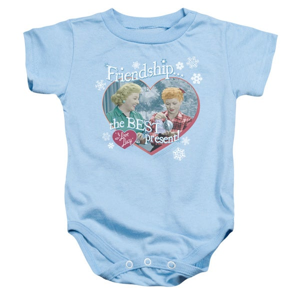 Lucy/The Best Present Infant Snapsuit in Light Blue