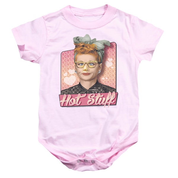 I Love Lucy/Hot Stuff Infant Snapsuit in Pink