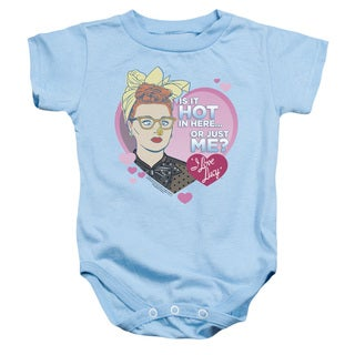 I Love Lucy/Hot Infant Snapsuit in Light Blue