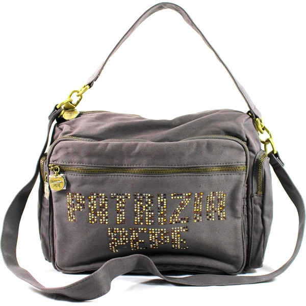 Patrizia Pepe Brown Textile Women's Shoulder Bag