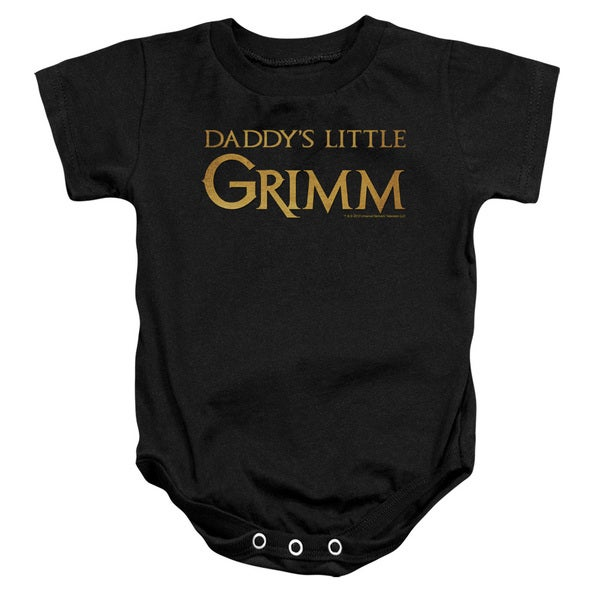 Grimm/Daddys Little Grimm Infant Snapsuit in Black