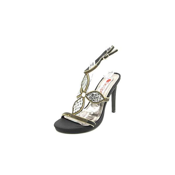 Two Lips Women's Kayla Black Synthetic Sandals