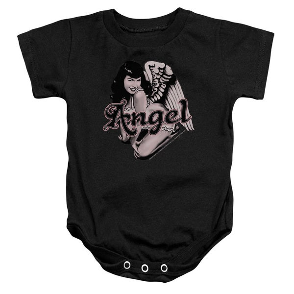 Bettie Page/Bettie Angel Infant Snapsuit in Black