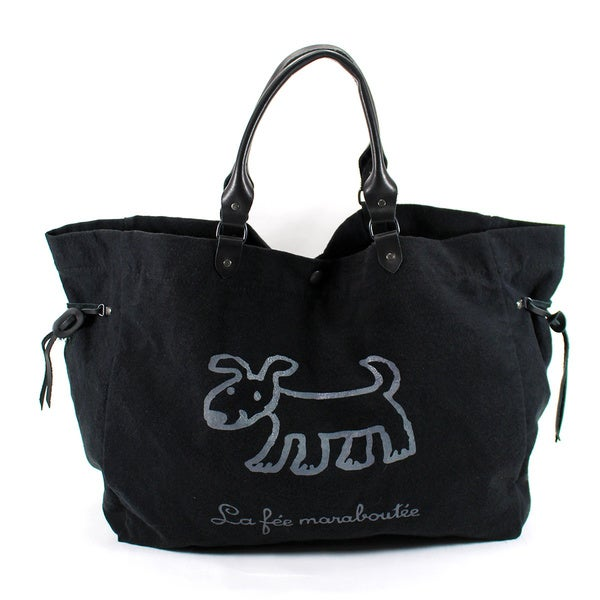 La Fee Marabout E Black Canvas Women's Tote