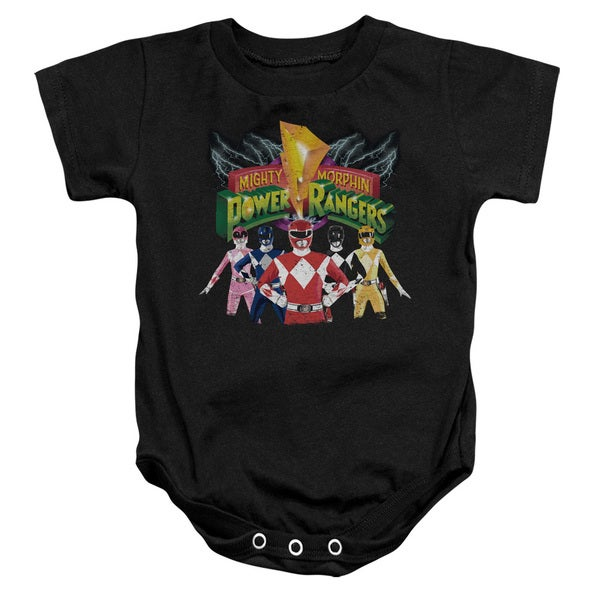 Power Rangers/Rangers Unite Infant Snapsuit in Black