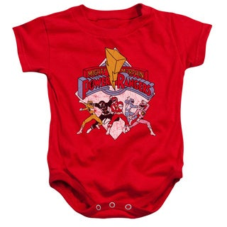 Power Rangers/Retro Rangers Infant Snapsuit in Red