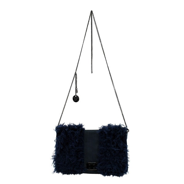 Patrizia Pepe Blue Leather Women's Evening Bag