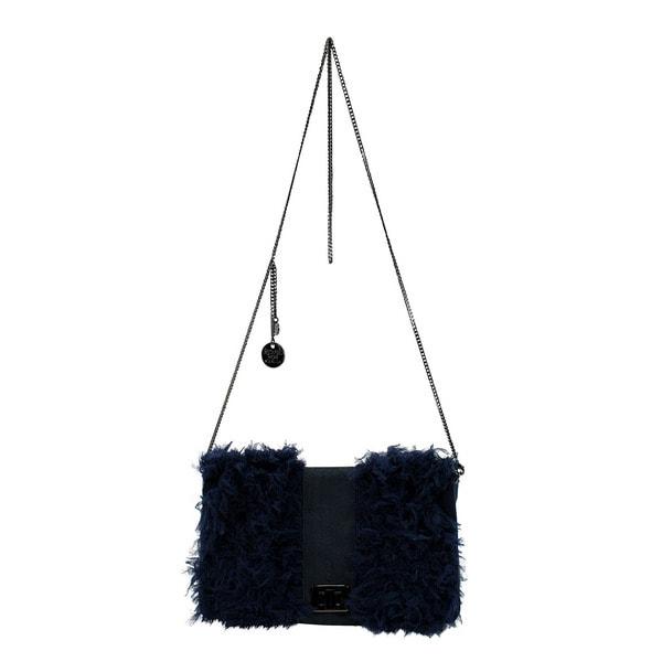 Patrizia Pepe Blue Leather Women's Evening Bag