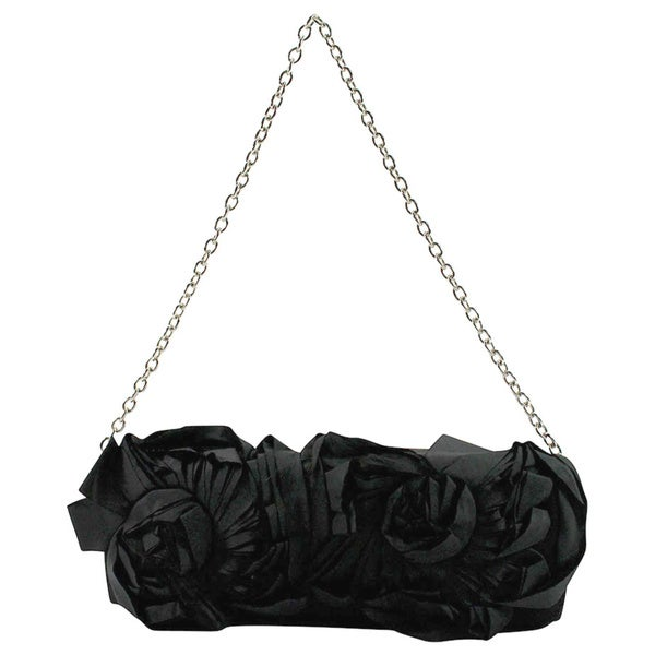 Persona Black Textile Women's Evening Bag