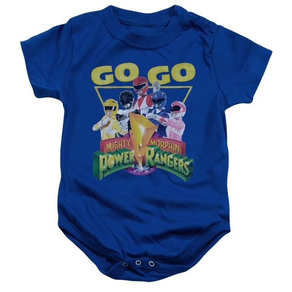 Power Rangers/Go Go Infant Snapsuit in Royal Blue