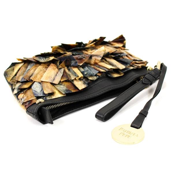 Patrizia Pepe Brown Man Made Women's Clutch Handbag