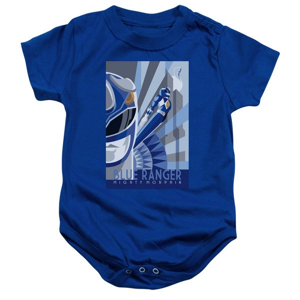 Power Rangers/Blue Ranger Deco Infant Snapsuit in Royal Blue