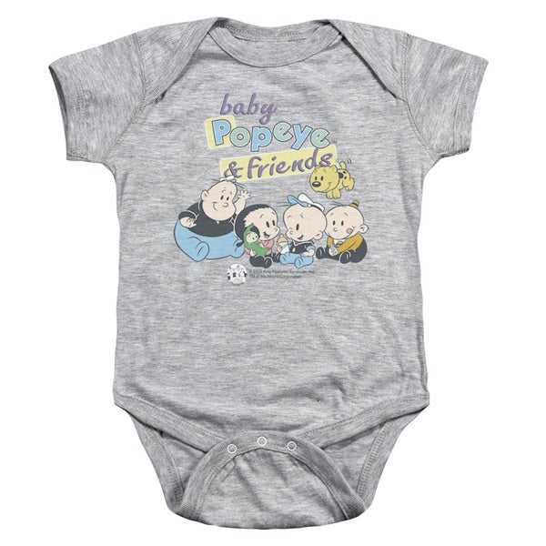 Popeye/Baby Popeye & Friends Infant Snapsuit in Heather