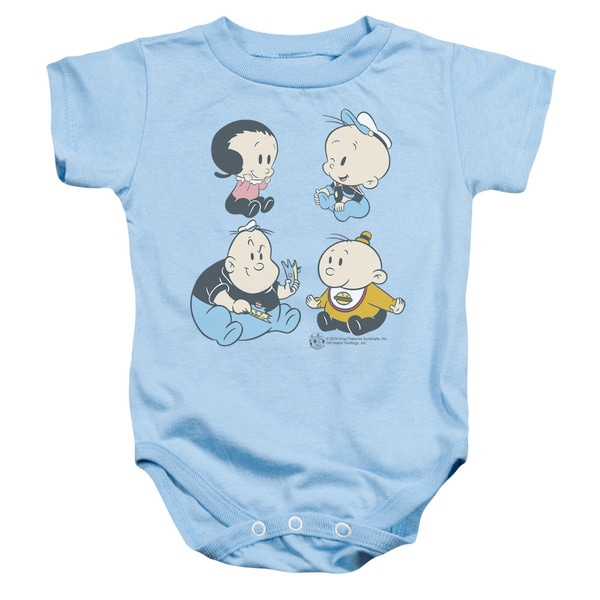 Popeye/Four Friends Infant Snapsuit in Light Blue