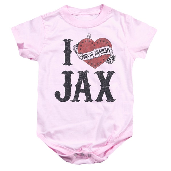 Sons Of Anarchy/I Heart Jax Infant Snapsuit in Pink