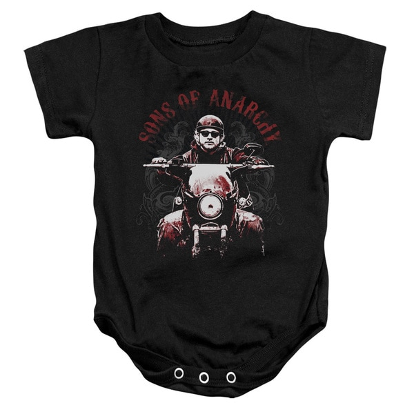 Sons Of Anarchy/Ride On Infant Snapsuit in Black