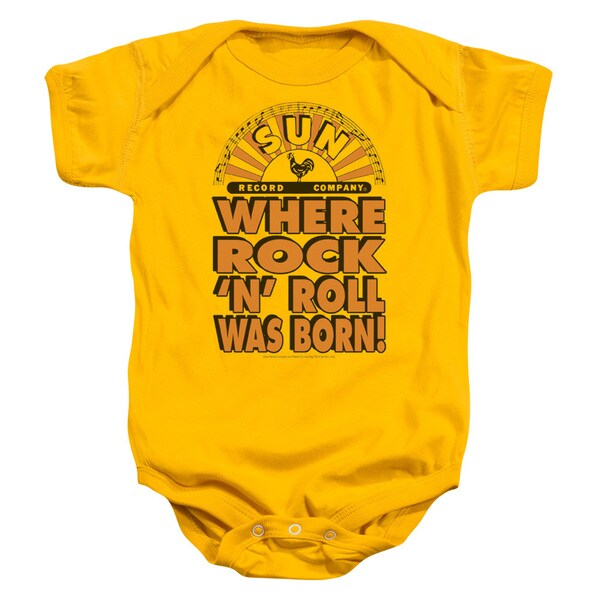 Sun/Where Rock Was Born Infant Snapsuit in Gold