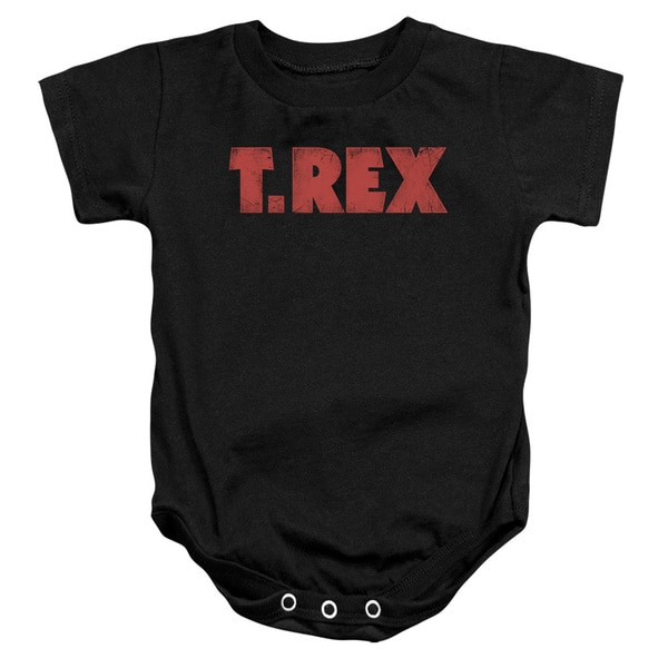 T Rex/Logo Infant Snapsuit in Black