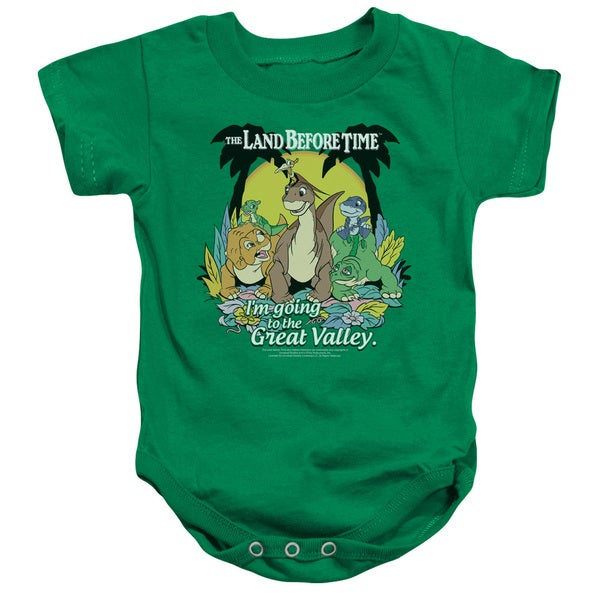 Land Before Time/Great Valley Infant Snapsuit in Kelly Green