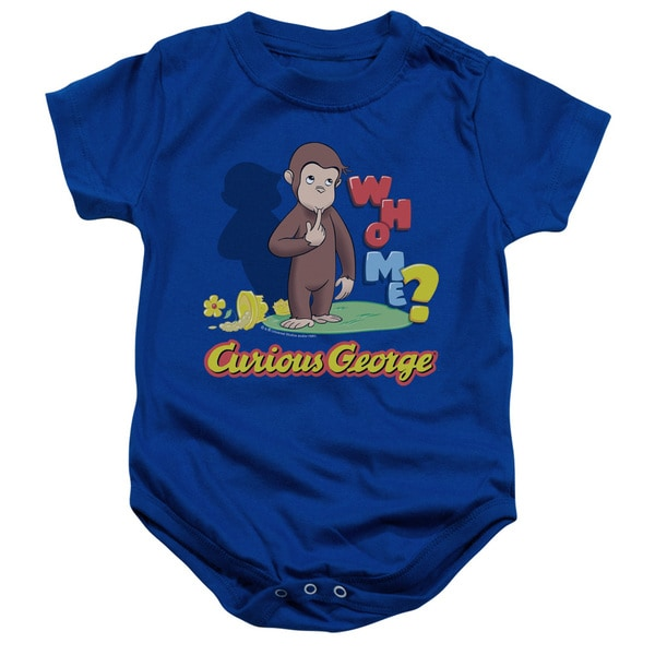 Curious George/Who Me Infant Snapsuit in Royal Blue