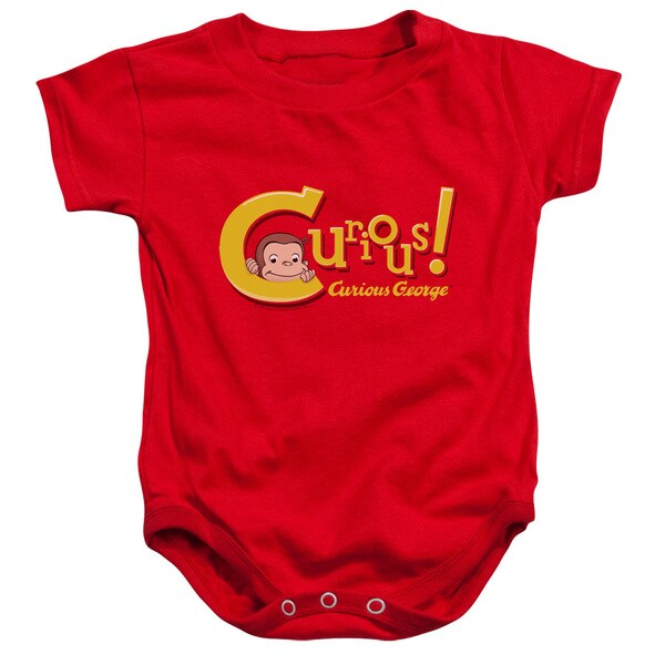 Curious George/Curious Infant Snapsuit in Red