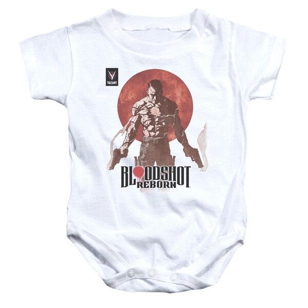 Bloodshot/Reborn Infant Snapsuit in White