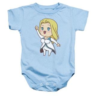 Valiant/Faith Chibi Infant Snapsuit in Light Blue