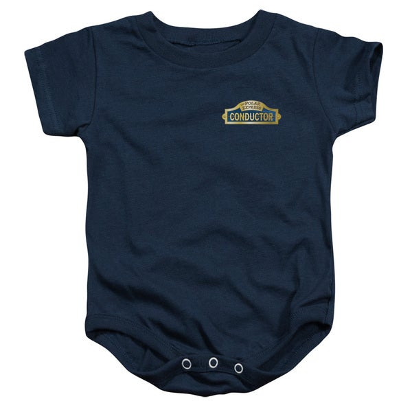 Polar Express/Conductor Infant Snapsuit in Navy