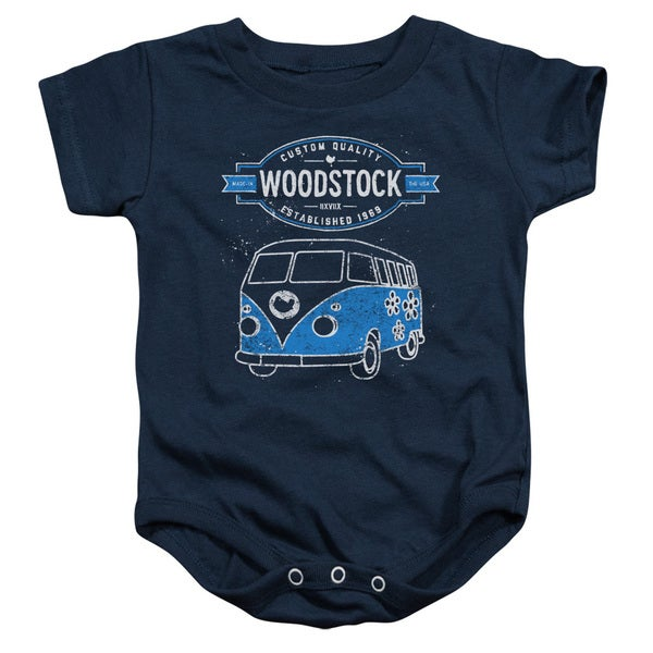 Woodstock/Van Infant Snapsuit in Navy