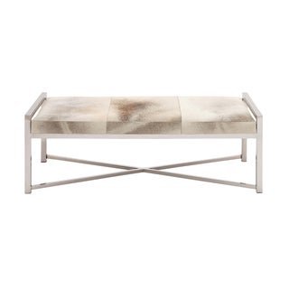 The Heartthrob Grey Stainless Steel/Leather Bench