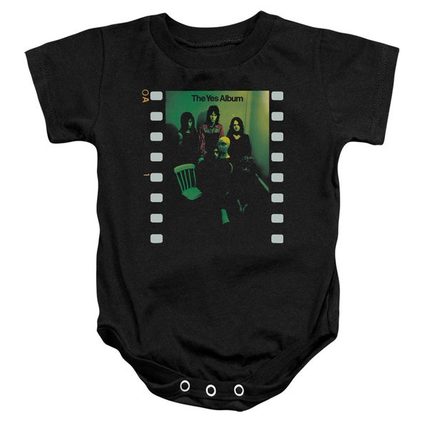 Yes/Album Infant Snapsuit in Black
