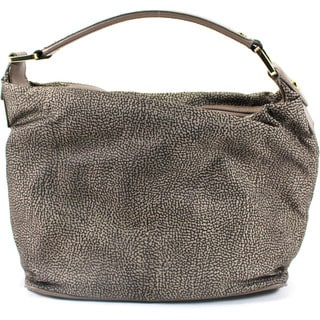 Borbonese Brown Textile Women's Hobo Handbag