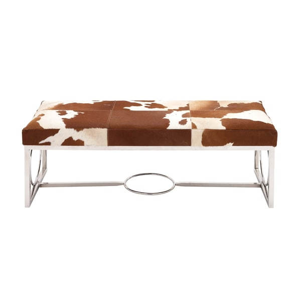 The Unique Multicolor Stainless Steel/Leather Bench