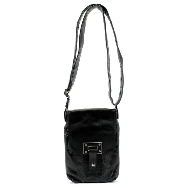 Orciani Black Leather Women's Bag