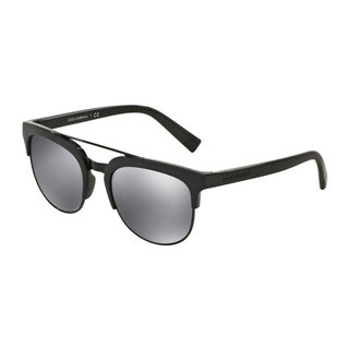 D&G Men's DG6103 501/6G Black Plastic Square Sunglasses