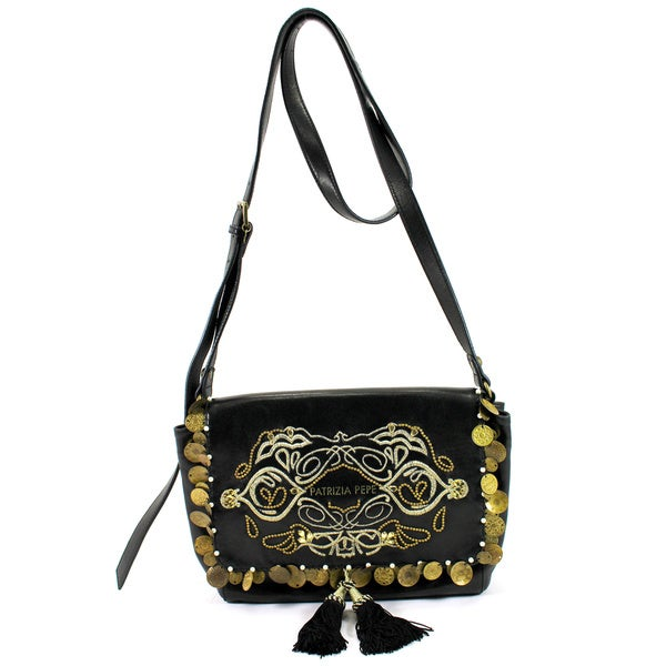 Patrizia Pepe Black Leather Women's Bag