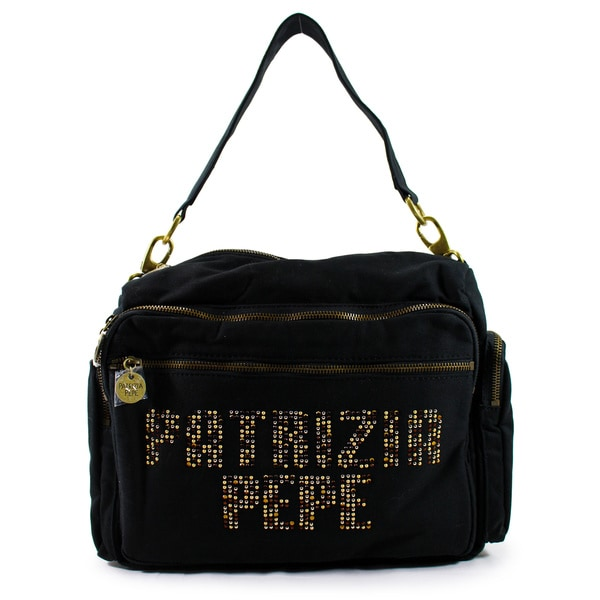 Patrizia Pepe Black Textile Women's Bag