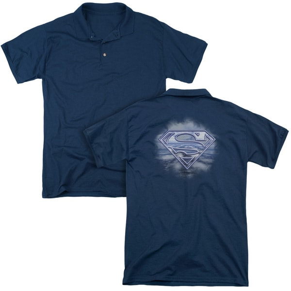 Superman/Freedom Of Flight (Back Print) Mens Regular Fit Polo in Navy