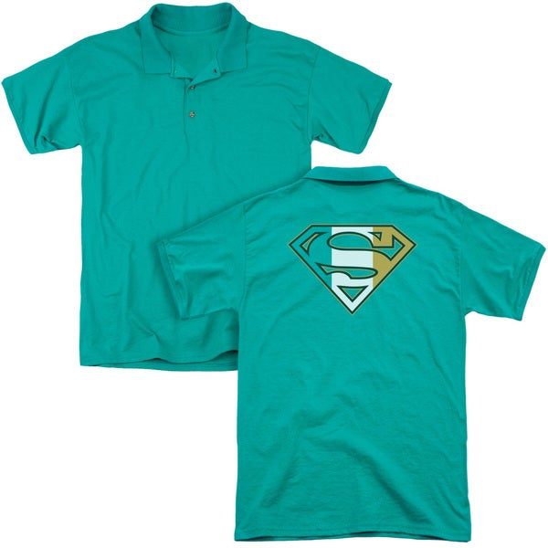 Superman/Irish Shield (Back Print) Mens Regular Fit Polo in Kelly Green