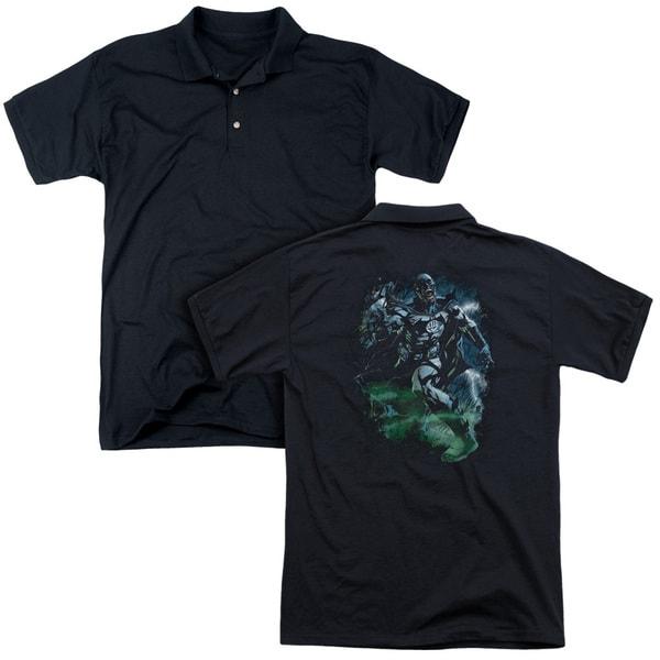 Green Lantern/Black Lantern Batman (Back Print) Mens Regular Fit Polo in Black