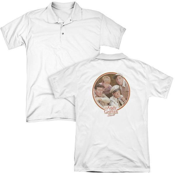 Andy Griffith/Boys Club (Back Print) Mens Regular Fit Polo in White