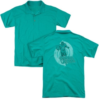 Green Lantern/Power (Back Print) Mens Regular Fit Polo in Kelly Green