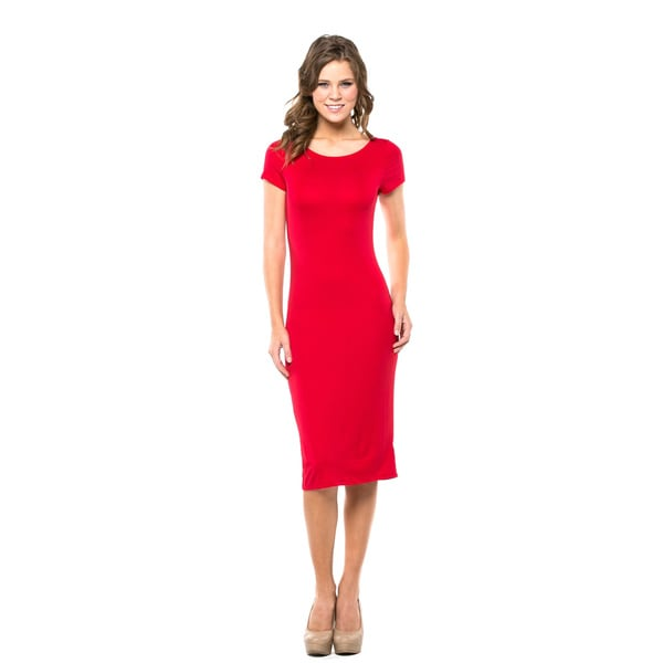 Back-Cutout Sheath Dress