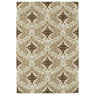 Hand-Tufted Perry Sand Medallions Wool Rug (9'0 x 12'0)